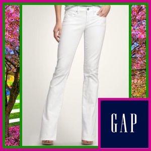 Gap Curvy Bootcut white Jeans